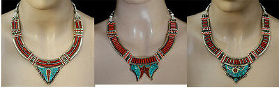 Lot of 3 Pcs Sterling silver Necklaces  Wholesale Asian Ethnic Jewelry  WHOLPK