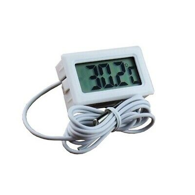 Aquarium Temperature Gauge Lcd Thermometer Fish Tank Water Fridge Black Uk