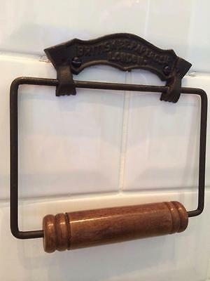 Iron British Paper London Vintage Toilet Roll Loo Paper Holder Retro Bathroom WC