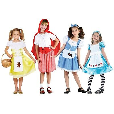 Girls Childrens World Book Day Story Character Fancy Dress Fairytale Kid Costume