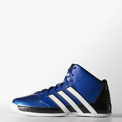 Adidas Mens Commander Td 5 Basketball Shoes Trainers Mid Boots Blue Uk Size New