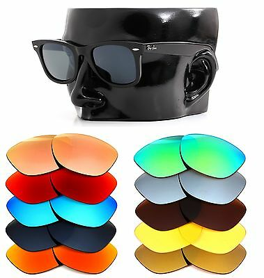Polarized IKON Replacement Lenses For Ray Ban Original Wayfarer RB2140 50MM