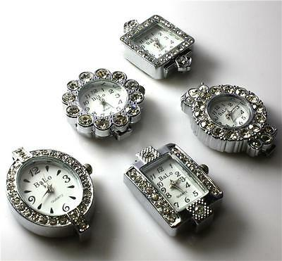 Rhinestone Watch Face For Beading Jewellery Making 5 Styles