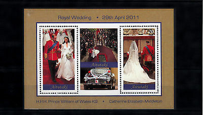 Aitutaki Cook Islands 2011 MNH Royal Wedding 2v Compound S/S Prince William Kate