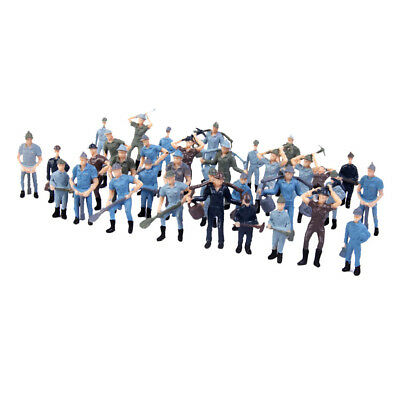 50 Painted Model Train Diorama Track Railroad Worker People Figures O 1:42
