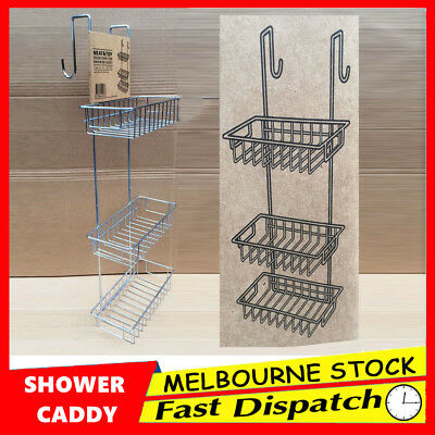 New 3 Tier Bathroom Accessories Shower Caddy Rack Chrome Bath Shelf  Storage