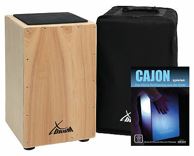 Cajon Tambour Caisse Batterie Percussion A Main Instrument Latin Set Avec Poche