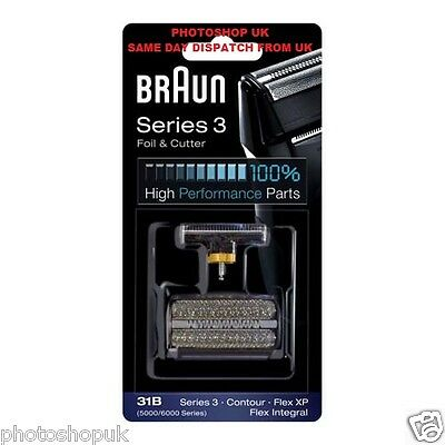 Braun 31B Replacement Foil And Cutter For Flex Intergral, Flex Xp, And Series 3