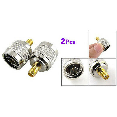 2pcs N Male Plug to SMA Female Jack RF Coaxial Adapter Connector BTSZUK