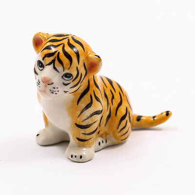 Baby Cute Tiger 6cm Ceramic Doll Figurine Miniature Dollhouse Collectible A1096
