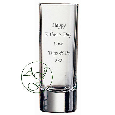 Personalised Engraved 60ml Shot Glass Birthday Fathers Day Gift