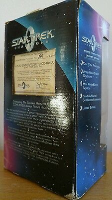 Star Trek champions fine pewter figure ahead warp one USS enterprise 834 / 9998