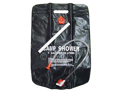 Solar Energy Heated Portable Camping 20 Litre 5 Gallon Folding Water Shower