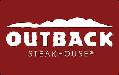 Outback Steakhouse Gift Card $25 $50 $100 - Email delivery