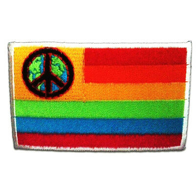 Ø7.7cm Iron on patches Peace colorful Application Embroided badges