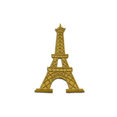 Toppe termoadesive - torre Eiffel Paris France - oro - 6,2x8,9 Patch Toppa