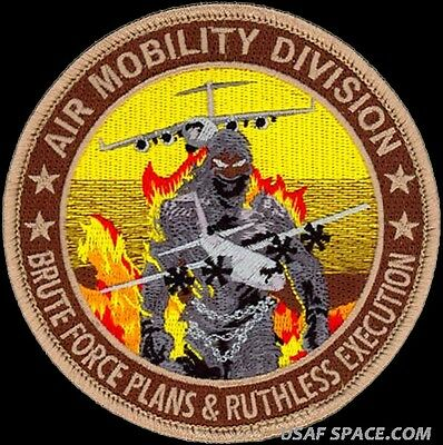 Usaf Air Mobility Division - Plans & Execution - Air Force Original Vel Patch