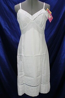 Vintage slip adjustable VTG Indera Figur-fit white snip-it hem NEW 32-38