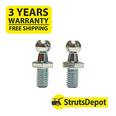 """2 x New """"10mm"""" Steel Ball Stud Bolts M8 Ball Ended Bolt PA02"""