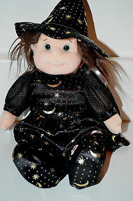 Ty Gear Beanie Kids Witch Cookie Tag Is Mint Black Dress Moon Stars Halloween