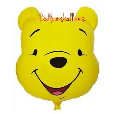 "Winnie The Pooh Head Balloon 28"" Bear Party Birthday Kids UK"