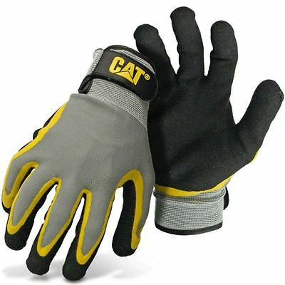 Caterpillar Cat Double Coated Latex Palm Work Gloves Medium