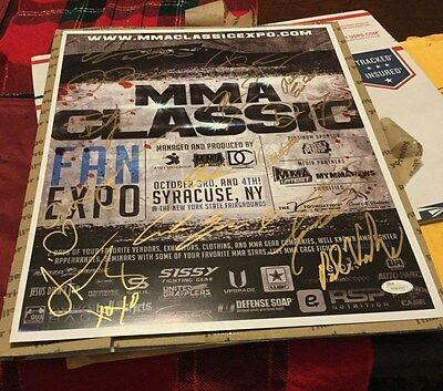 Autographed Poster UFC SEG Pride FIghting Championship Bellator  MMA expo