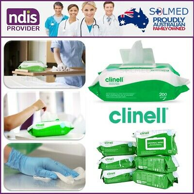 Clinell Universal Sanitising Wipes (Pack Of 200) All Surfaces & Safe On Hands