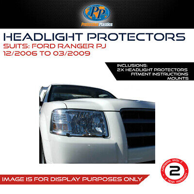 Headlight Protector To Suit Ford Ranger Pj 06-09 Lamp Covers Clear