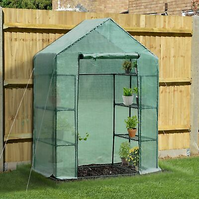 "Outsunny 56×30×78"" 4 Tier Greenhouse Plant Flower Garden Shed w/ Shelves"