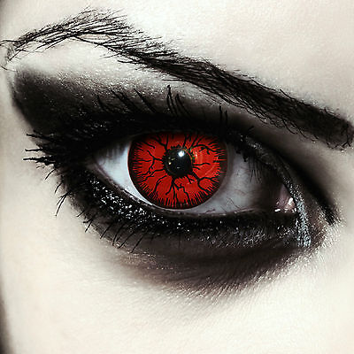 "Rosse lenti a contatto colorate rosso mostro per Halloween costume ""Red Monster"""
