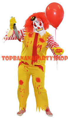 CLOWN COSTUME HALLOWEEN MENS EVIL MONSTER SCARY JESTER CIRCUS ZOMBIE Ronald