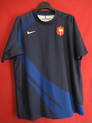 Maillot Rugby Equipe de France 2008 Manche Courte Nike TBE - XL