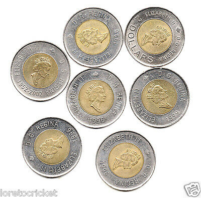 Canada nine  two dollar canadian coins $18.00 face for less than face