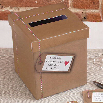 WEDDING WISHES POST BOX Alternative Guest Book JUST MY TYPE Vintage Posting