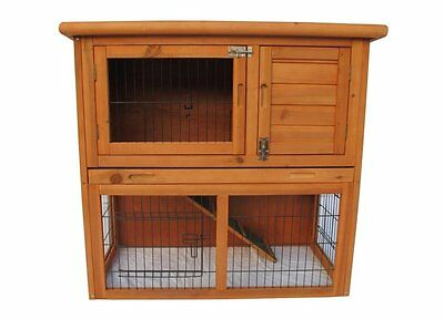 New Deluxe Portable wood Guinea Pig Ferret Hutch Pet House Coop Wood Cage Suite