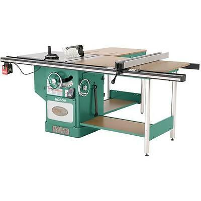 """G0652 Grizzly 10"""" 5 HP 3-Phase Heavy-Duty Cabinet Table Saw with Riving Knife"""