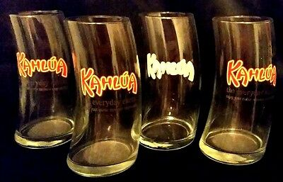 """KAHLUA TILTED CURVED HIGHBALL GLASS - NICE FOR MUDSLIDES! """"The Everyday Exotic."""""""