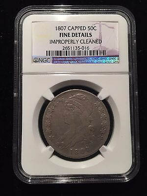 1807 Capped Bust Half Dollar NGC Fine F Overton O Variety Silver
