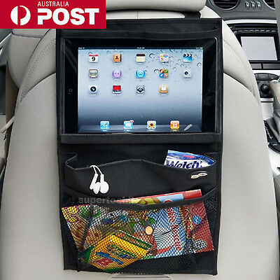 Car Seat Back Organizer Tidy Storage Travel  Kid Storage iPad Galaxy Tab Holder