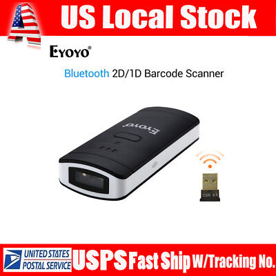 CT30 Portable Wireless Bluetooth Laser Barcode Scanner Fr iPhone8/X iPad Android