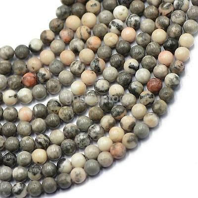 6mm Natural Round Jewelry Making Loose Gemstone Beads Stone Strand 15""