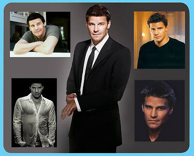 David Boreanaz Bones Angel Buffy mouse mat Secret Santa Birthday gift idea D1