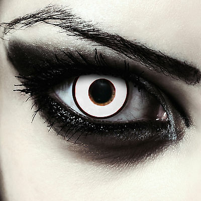 "Bianche lenti a contatto colorate con diottrie per Halloween costume""Zombie Eye"""