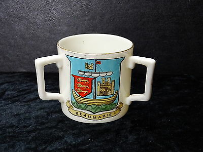 Goss China Model of a 3 Handled Cup - Anglesea, Red Dragon of Wales, Beaumaris