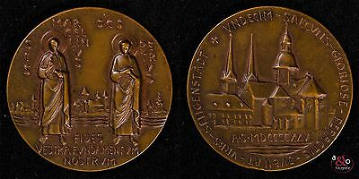 Petrus - Medaille 1925 - Kupfer-Relief ca 28g 43mm