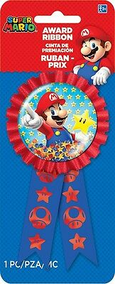 Super Mario Bros. Toad | Star Party Favour | Award Ribbon | Rosette 1-5pk