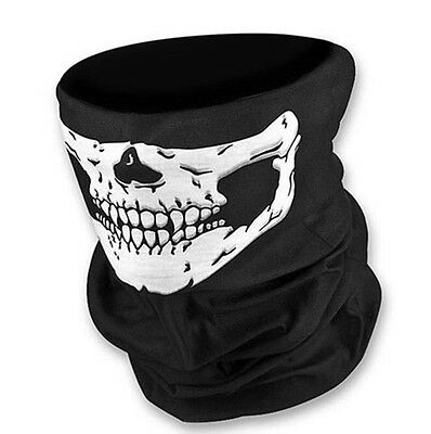 Full Function Skull Skeleton Face Mask Neck Tube Scarf Biker Motorcycle Bandana