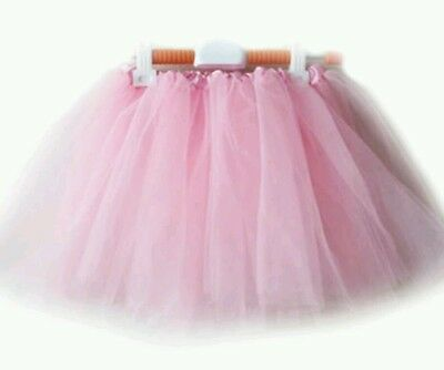 Girls Ballet Tutu Skirt Pink White Ballerina Dress up Fairy Costume Dance Age3-7