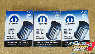 2003-2009 Dodge Ram 2500 3500 5.9L Cummins Diesel Fuel Filter Set Of 3 OEM Mopar